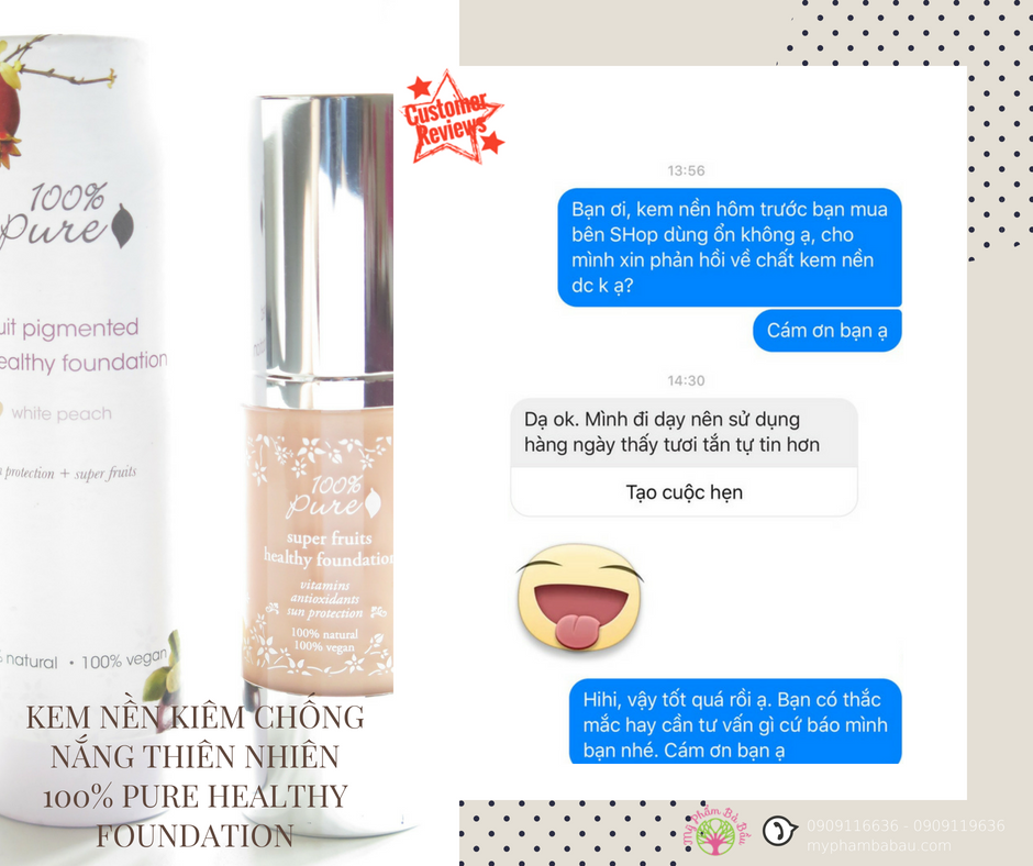Kem nền cho mẹ bầu 100% Pure Fruit Pigmented Healthy Foundation