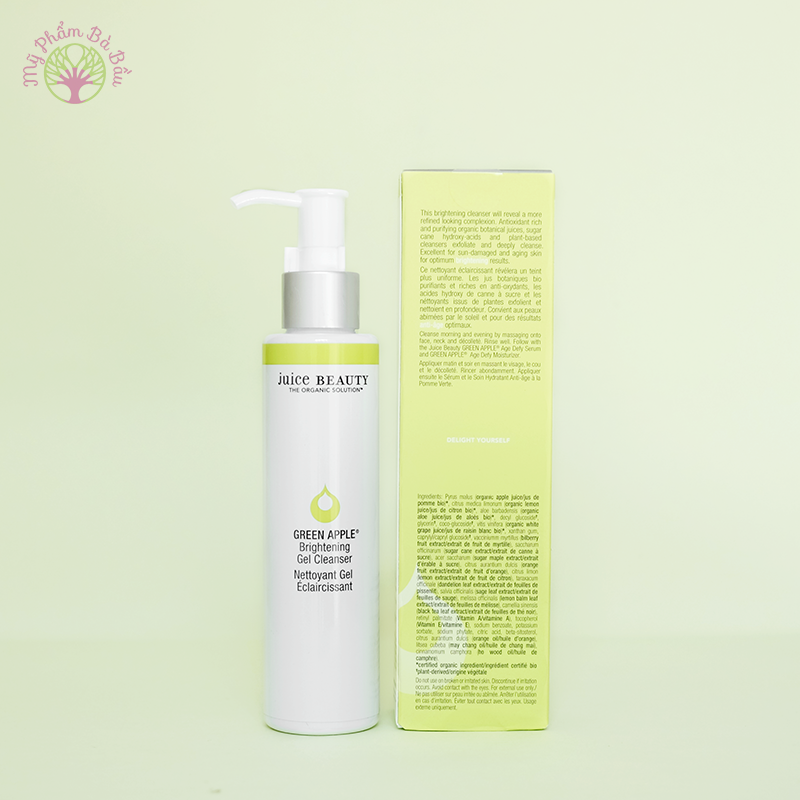 Sữa rửa mặt sáng da Juice Beauty Green Apple Brightening Gel
