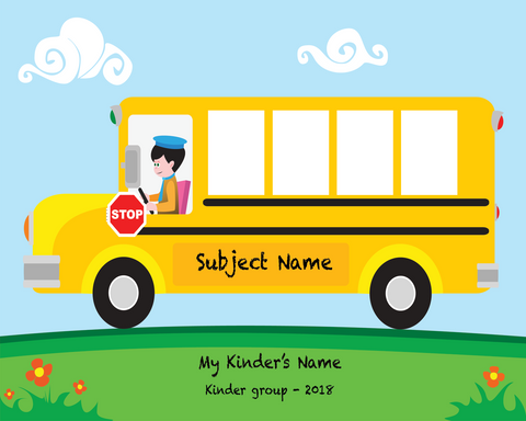Kids On The Bus Photo Template