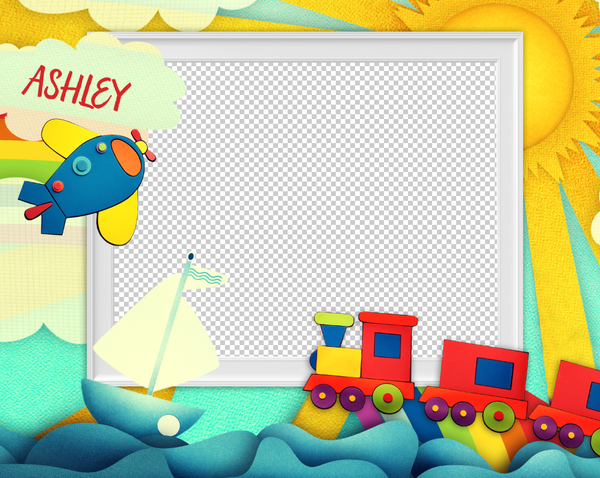 Rainbow 1 Photo Template