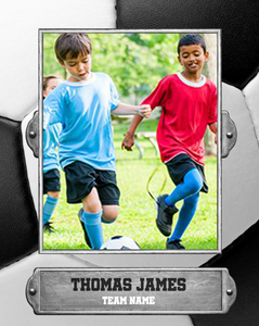 Soccer 3 Photo Template