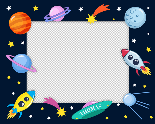 Outer Space 1 Photo Template