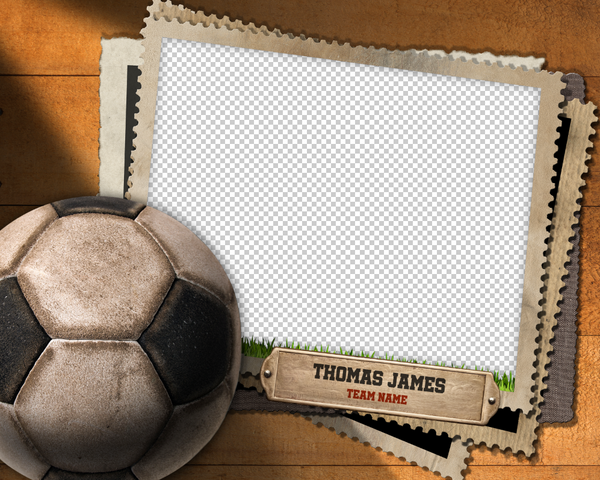 Soccer 4 Photo Template