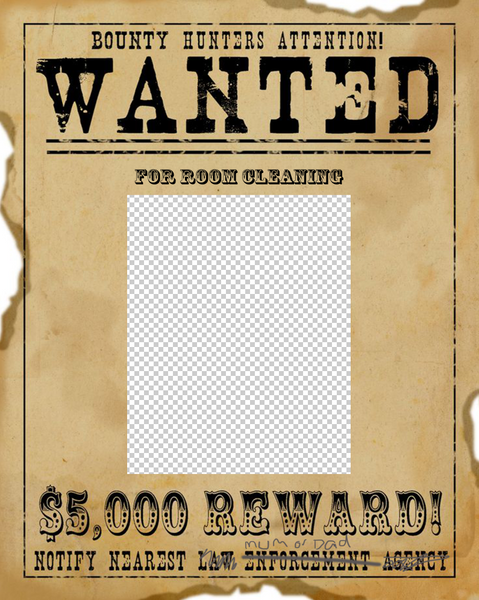 Wanted 1 Photo Template