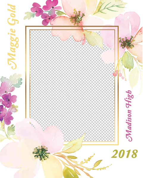 Senior 6 Photo Template
