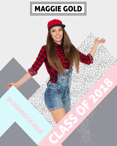 Senior 3 Photo Template