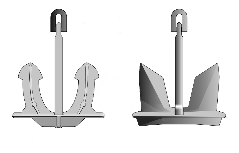 Stockless Ship Anchor - All Lifting