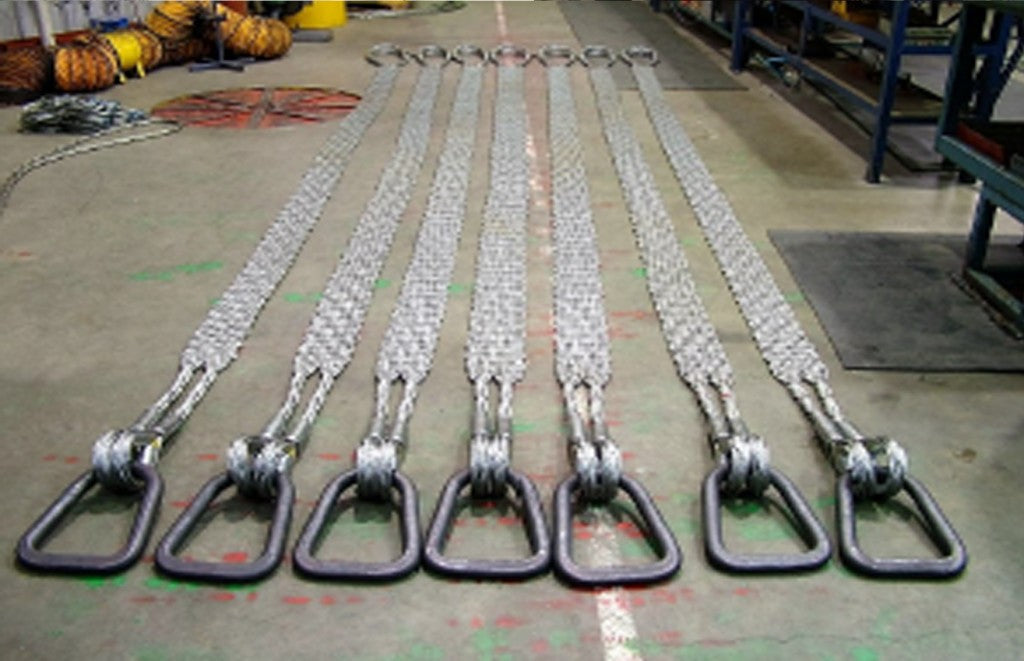 Wire Rope Slings laid on Ground - All Lifting