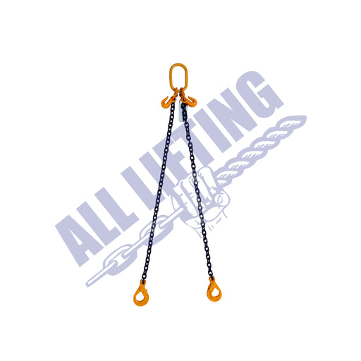 Grade 80 2 Leg Chain Sling with Self Locking Hook