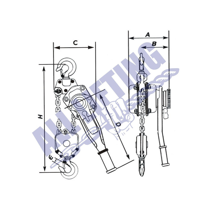 ALS-mini-lever-hoist-diagram-all-lifting