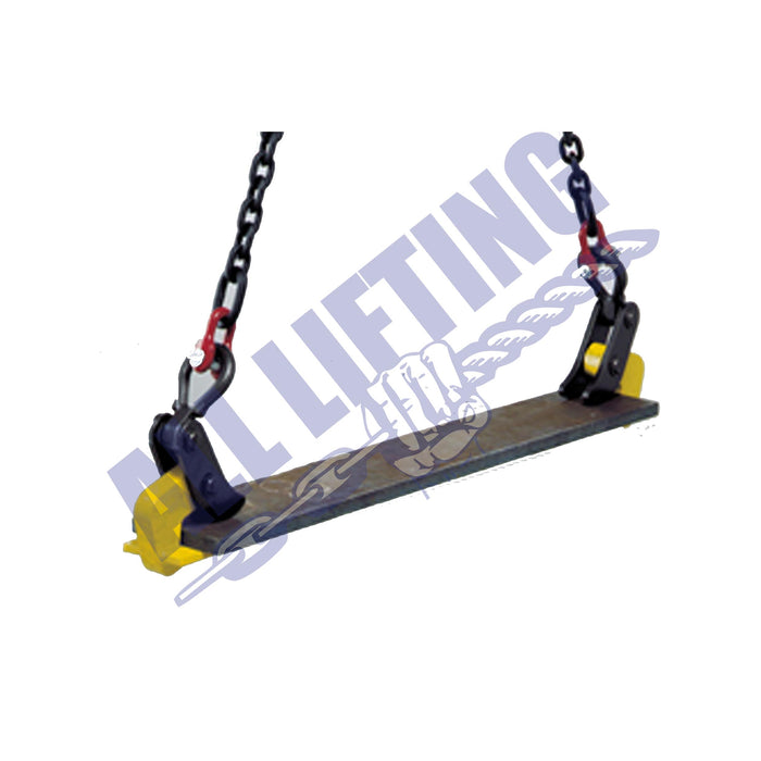 Camlock-CH-Horizontal-Plate-Clamp-Attached-to-lift-All-Lifting