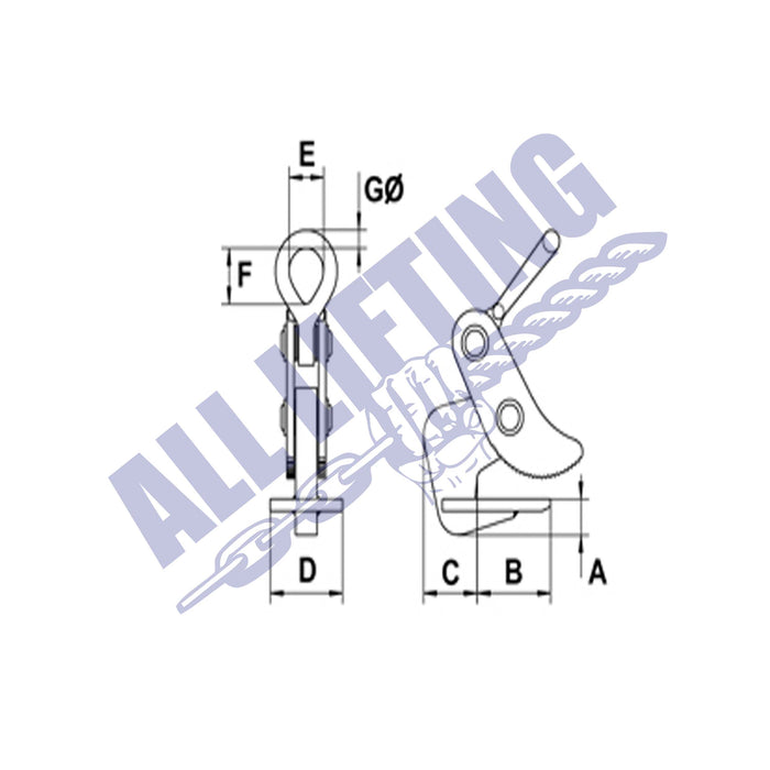 Camlock-CH-Horizontal-Plate-Clamp-Drawing-All-Lifting