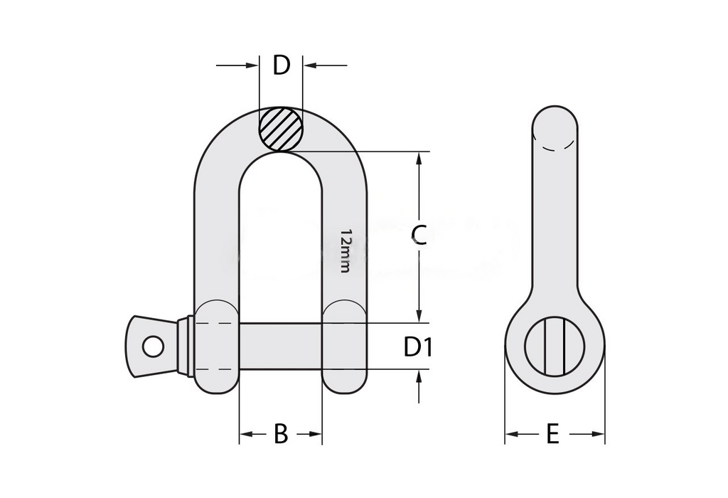 Commercial Galvanised Dee Shackle - All Lifting