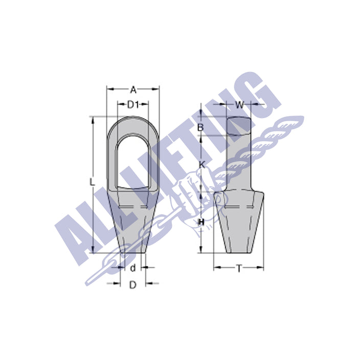Forged Closed Spelter Wire Rope Socket