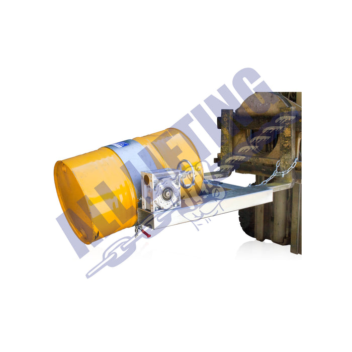 Forklift-drum-rotator-handle-in-operation-All-Lifting
