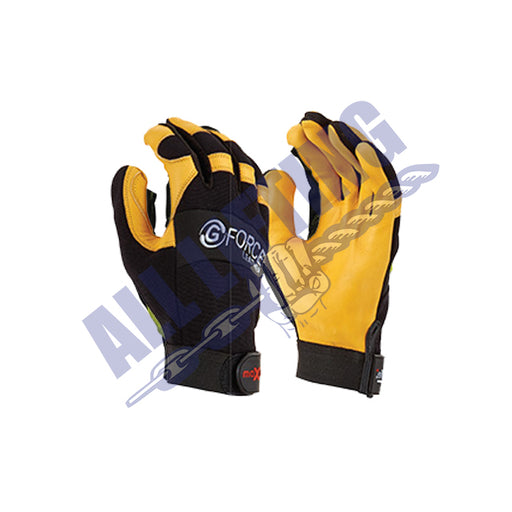 G Force Mechanics Glove with Leather Palm