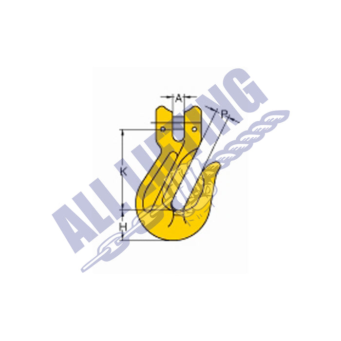 Grade 80 Grab/Shortner Hook With Wings Clevis