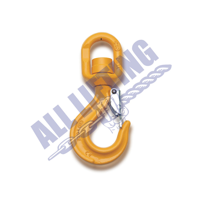 Grade 80 Swivel Hook with Latch (Ball Bearing type)