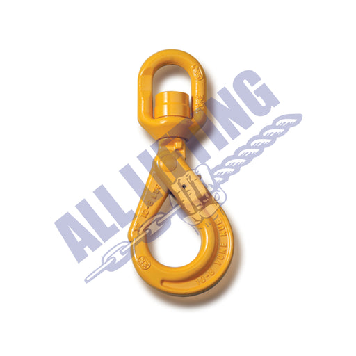 Grade 80 Swivel Self Locking Hook with Ball Bearing Eye
