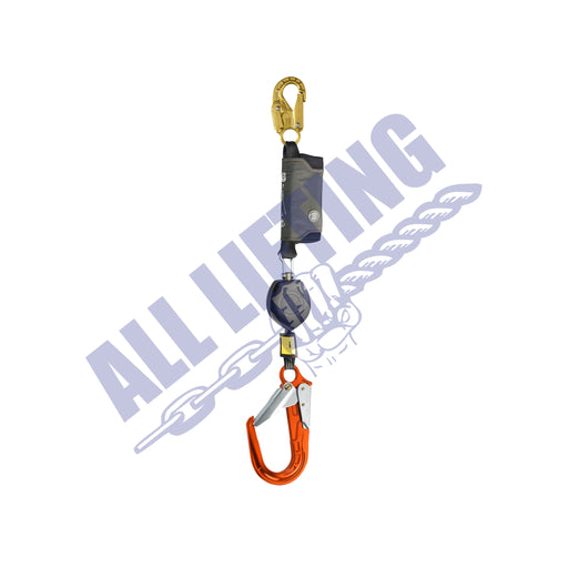 Peanut Single Self Retracting Lanyard with Snap Hook and Aluminum Scaff Hook (Type 2)