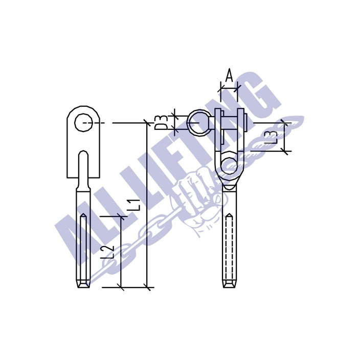 Stainless Steel Toggle Terminal Eye Type