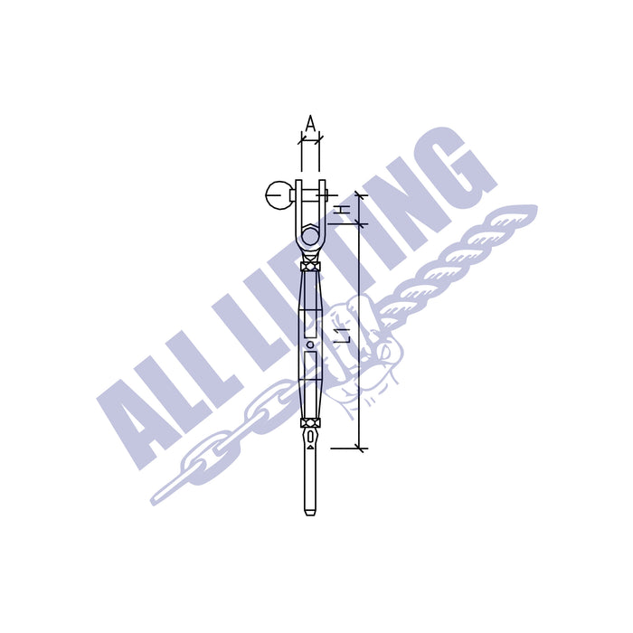 Stainless Steel Bottlescrew Toggle and Swage Stud