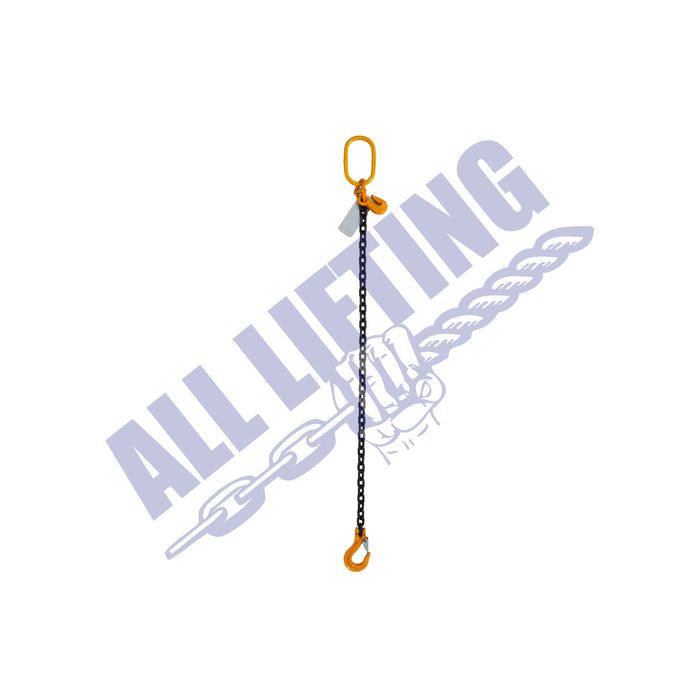 Grade 80 Single Leg Chain Sling with Safety Latch Hook