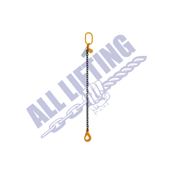 Grade 80 Single Leg Chain Sling with Self Locking Hook