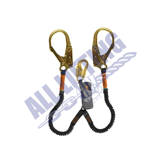 Skysafe Pro Flex Twin Lanyard with Snap Hook and Steel Scaff Hook