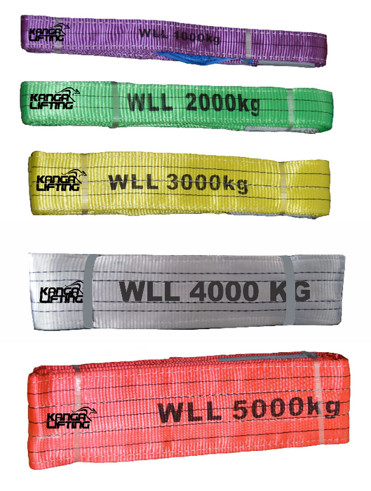 2 Tonne Flat Webb Sling Colours