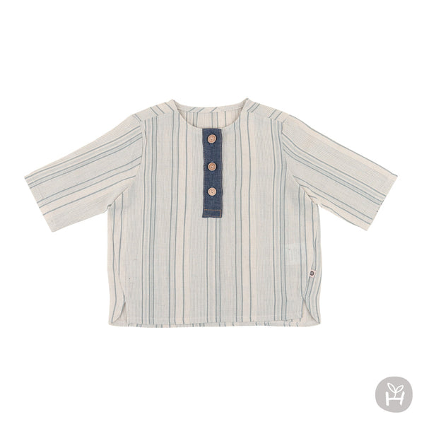 Samuel three-quarter sleeve shirt | Korean Kids Clothes - Imaryakids