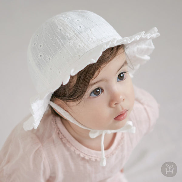 Meria frill sunhat | Korean Kids Clothes - Imaryakids