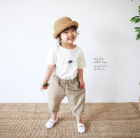 Ore Ore Linen No8 Bending Pants | Korean Kids Clothes - Imaryakids
