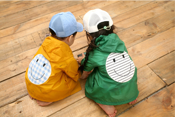 Smile Snap Rain Jacket-Yellow | Korean Kids Clothes - Imaryakids