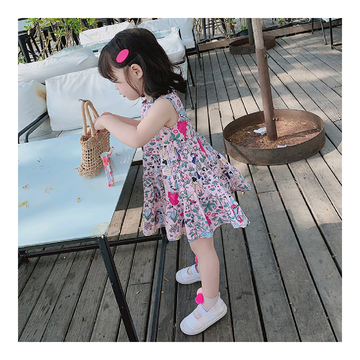 Toddler Girl Summer Dress - Pink