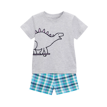 Summer Top + Short Set - Dinosaur