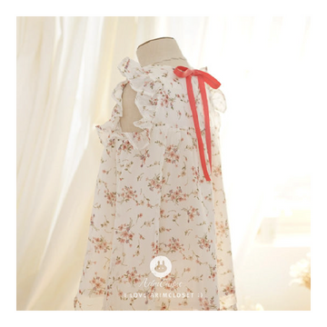 ARIM CLOSET Flower Chiffon Cotton Dress