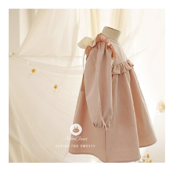 Arim Closet - Big Ribbon Dress - Pink