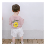Short Sleeve T shirt with Lemon _ Red bean Color