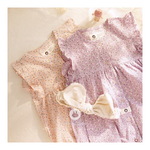 ARIM CLOSET Baby Flower All open body suit - Pink