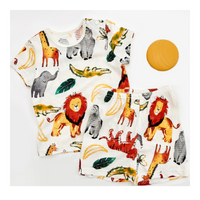 Organic Cotton Short Sleeve Homewear - Zoo