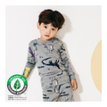 Toddler Fall Winter Homewear - Dark Gray Dinosaur