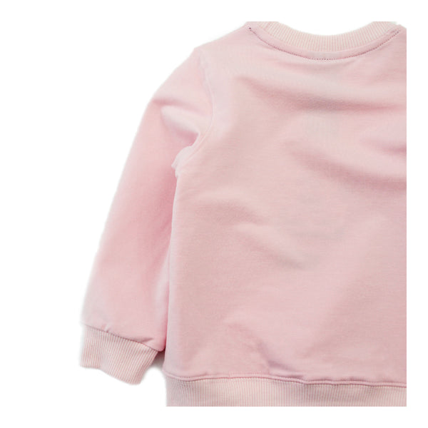 Toddler Girl Sweatshirt - Cute Girl Pink