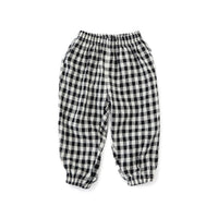 Summer Sporty Pant - Black and White grid