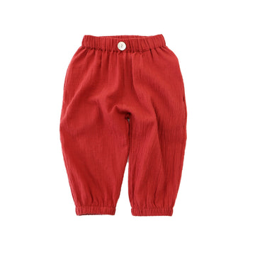 Summer Pant - Dark Red