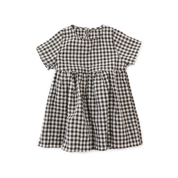 Summer Toddler Girl Grid Dress