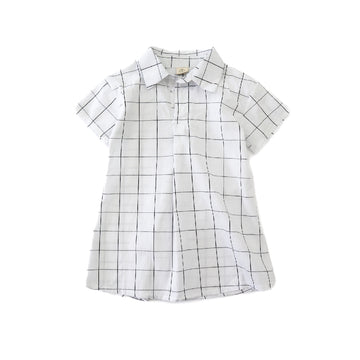 Toddler Girl Black and White grid Dress