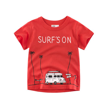 Summer Surf T- shirt - Bright Red