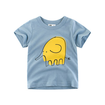 Summer Elephant T- shirt - Light Blue