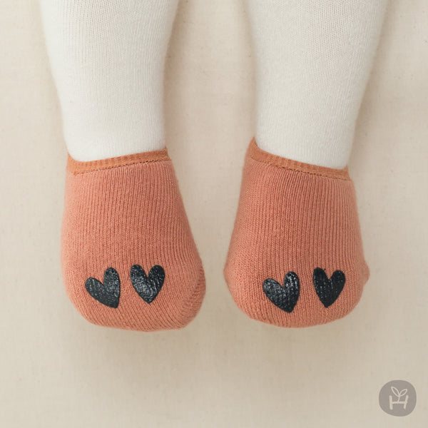 I Love winter socks - Orange | Korean Kids Clothes - Imaryakids